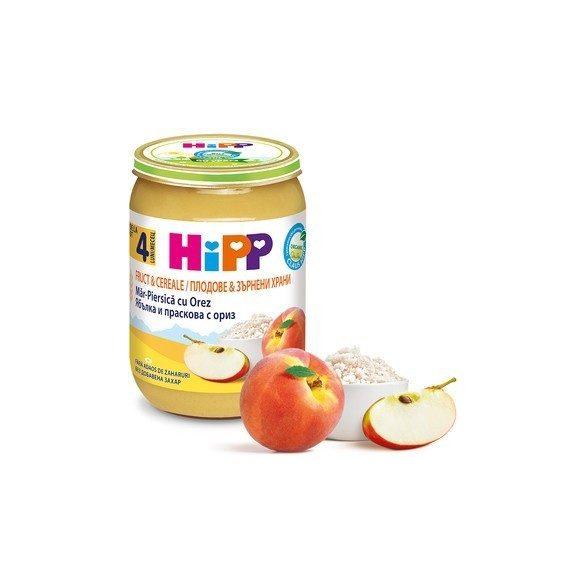 БИО Праскова и ябълка с пълнозърнест ориз
