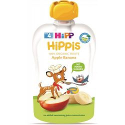 HIPP Био Плодова закуска ябълки и банан  100Г