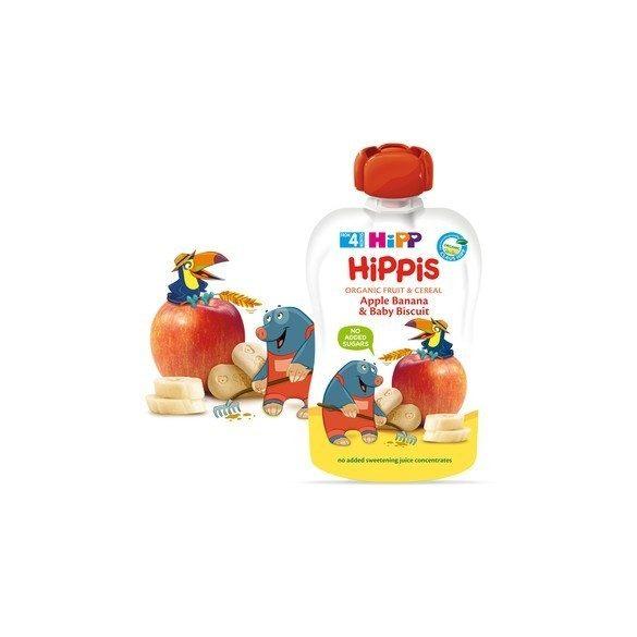 HIPP Био Плодова закуска ябълки,банан и бисквити