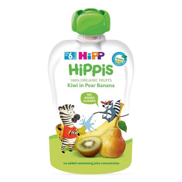 HIPP Био Плодова закуска круша,банан и киви  100г