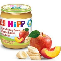 HIPP БИО Ябълки с банани и праскови