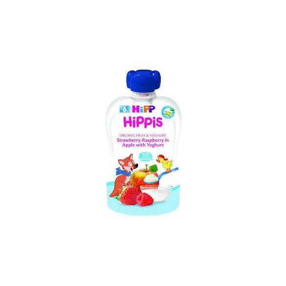 HiPP  - Био  плодова закуска от ябълка, ягода, малина и йогурт