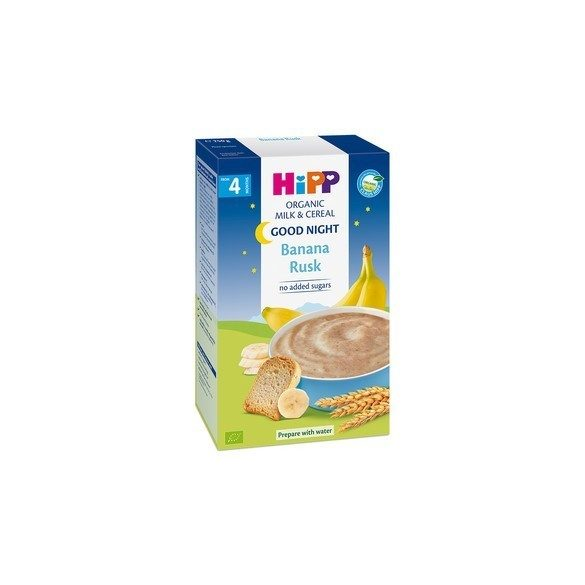 "HIPP Био инстантна млечна каша ""Лека нощ"" – Банан и сухар"