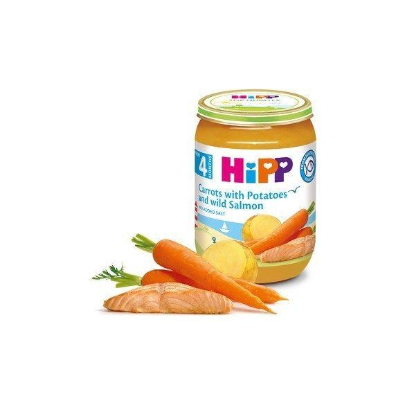 HIPP  Моркови с картофи и дива Сьомга 4м