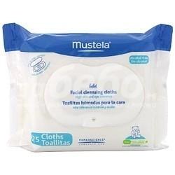 Mustela Почистващи кърпички за лице с флуид PhysiObebe - 25 бр.