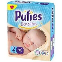 Pufies Sensitive 2 3-6кг 74 бр