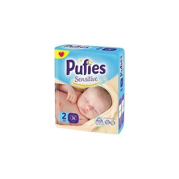 Pufies Sensitive 2 3-6кг 74 бр