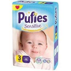 Pufies Sensitive 3 4-9кг 66 бр